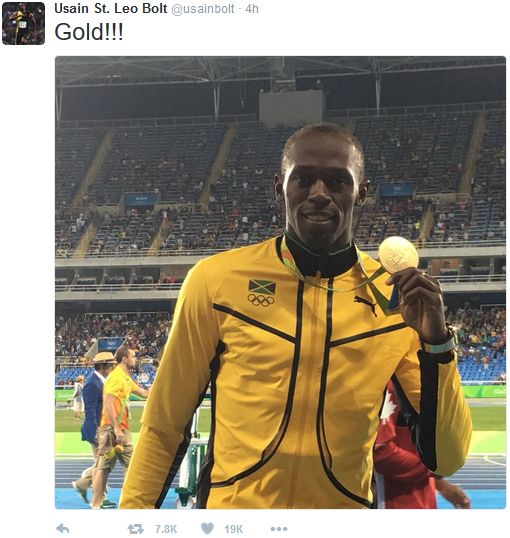 Jamaican Sprinter Usain Bolt Wins Third Record Setting ...